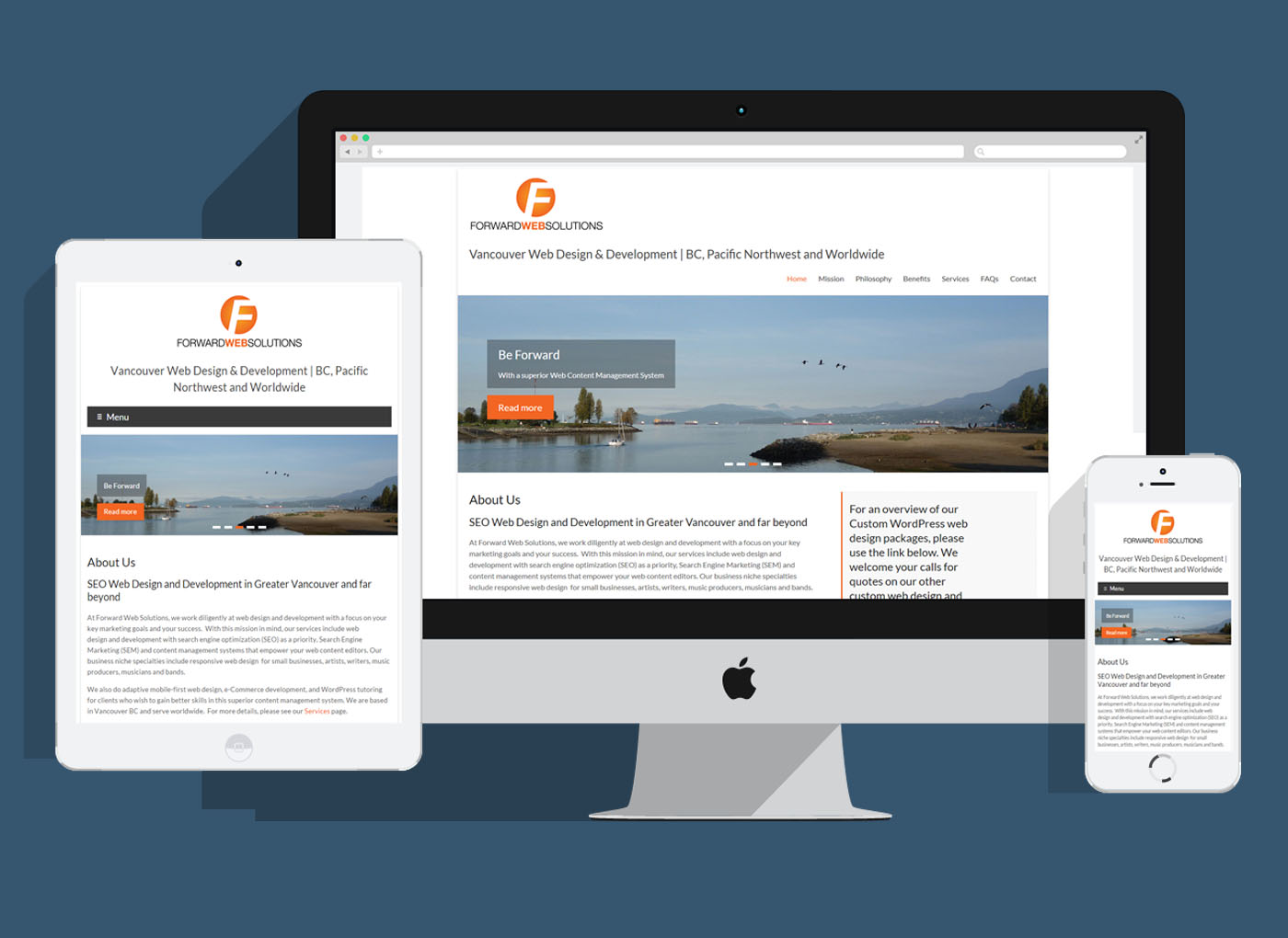 Forward Web Solutions responsive web design