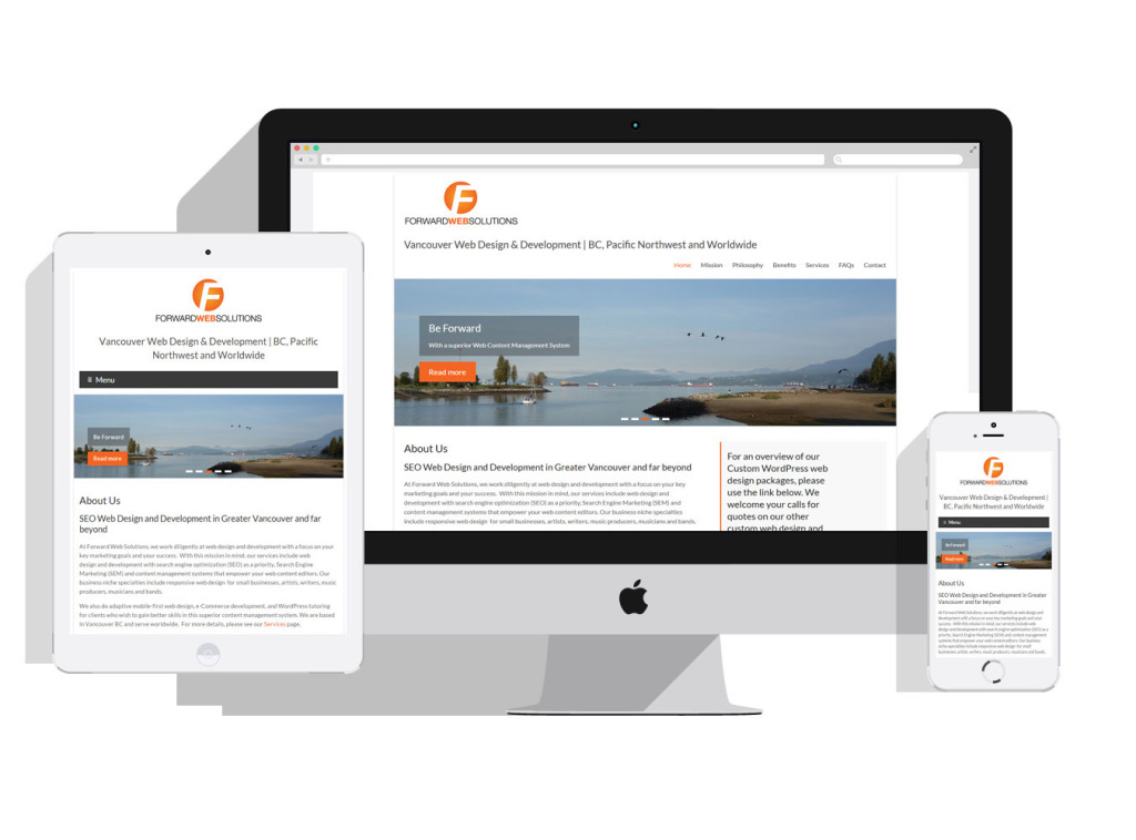 Forward Web Solutions - Responsive Mobile-First Content Management custom WordPress web design